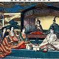 Wedding Of Crown Prince Yoshihito And Princess Kujo Sadako, 1900 by Vintage Printery