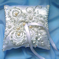 Wedding Ring Pillow. Ameynra Beadwork by Sofia Metal Queen