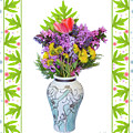 Wedding Vase With Bouquet by Lise Winne