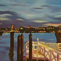 Weehawken From Pier 78 by Milagros Palmieri
