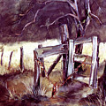 Weighted Gate -feather River Park by Jean Groberg