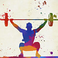 Weightlifter Paint Splatter by Dan Sproul