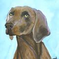 Weimarainer Dog Art by Mary Jo Zorad