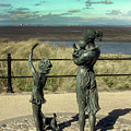 Welcome Home Statue By Anita Lafford On The Promenade At Fleetwood - England by Doc Braham