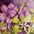 Welcome Spring Violets by Sharon Nelson-Bianco