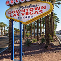 R.i.p. Welcome To Downtown Las Vegas Sign Day by Aloha Art