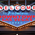 Welcome To Downtown Las Vegas Sign Slotzilla by Aloha Art