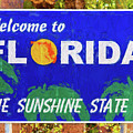 Welcome To Florida Sign by Les Palenik