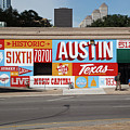 Welcome To Historic Sixth Street Is A Famous Mural Located At 6th Street And I-35 Frontage Road, Austin, Texas - Stock Image by Austin Welcome Center
