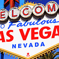 Welcome To Las Vegas Sign by John Rizzuto