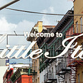 Welcome To Little Italy Sign In Lower Manhattan. by Antonio Gravante
