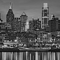 Welcome To Penn's Landing Bw by Susan Candelario