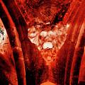 Wells Cathedral Gargoyles Color Negative A by Jacek Wojnarowski