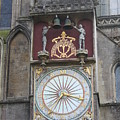 Wells Cathedral Outside Clock by Lauri Novak