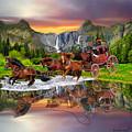 Wells Fargo Stagecoach by Glenn Holbrook