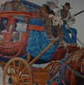 Wells Fargo Stagecoach by Rob Hans
