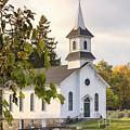 Welsh Road Church In Fall II by Rod Best