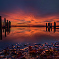West Boat Launch Fall Sunrise by Ron Wiltse