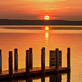 West Dnr Boat Launch July Sunrise by Ron Wiltse