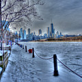 West From Navy Pier by David Bearden