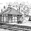 West Hinsdale Train Station by Mary Palmer