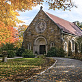West Parish Chapel In Fall, Andover, Ma by Betty Denise