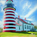 West Quaddy Head Lighthouse by Ronald Bolokofsky