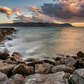 West Shore Sunset by Adrian Evans
