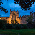 West Side Of Hexham Abbey At Night by David Head
