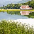 West Virginia Barn Reflected In Pond   by Bill Swindaman