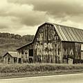 West Virginia Barn Sepia by Steve Harrington