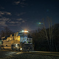 Westbound Norfolk Southern 375 At Georgetown In by Jim Pearson