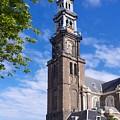 Westerkerk Tower And Church. Amsterdam. Netherlands. Europe by Bernard Jaubert