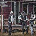 Western Cowboy Re-enactors At 1880 Town by Randall Nyhof