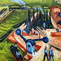 Western Harbour In Frankfurt  by Ernst Ludwig Kirchner