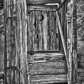 Western Outhouse Bw by Susan Candelario