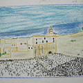 Western Wall.holly Land.color Pencils 1990 by Dr Loifer Vladimir