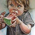 Westie And The Watermelon by Stephanie Come-Ryker