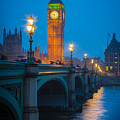 Westminster Bridge At Night by Inge Johnsson