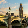 Westminster Bridge At Sunset by James Udall