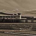 Weston  Super Mare   Outflow  Pier  Black  White by Krzysztof Dac