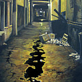 Wet Alley by Elaine Booth-Kallweit