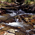 Rocks And Water In Autumn by Glenda Ward