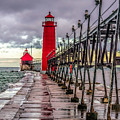 Wet At Grand Haven by Nick Zelinsky