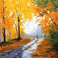 Wet Autumn Morning by Graham Gercken