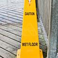 Wet Floor Warning by Tom Gowanlock