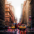Wet Streets Of New York City by Christopher Arndt