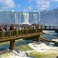 Wet Walkways In The Iguazu River In Iguazu Falls National Park-brazil  by Ruth Hager