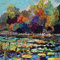 Wetland Pond Modern Impressionism  by Ginette Callaway