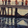 Wharf Reflections@ Halifax N. S. by Beverly Hubley